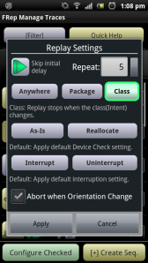FRep Replay Settings