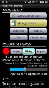 FRep Till Gap